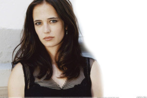Eva Green Sad Face In Black Dress