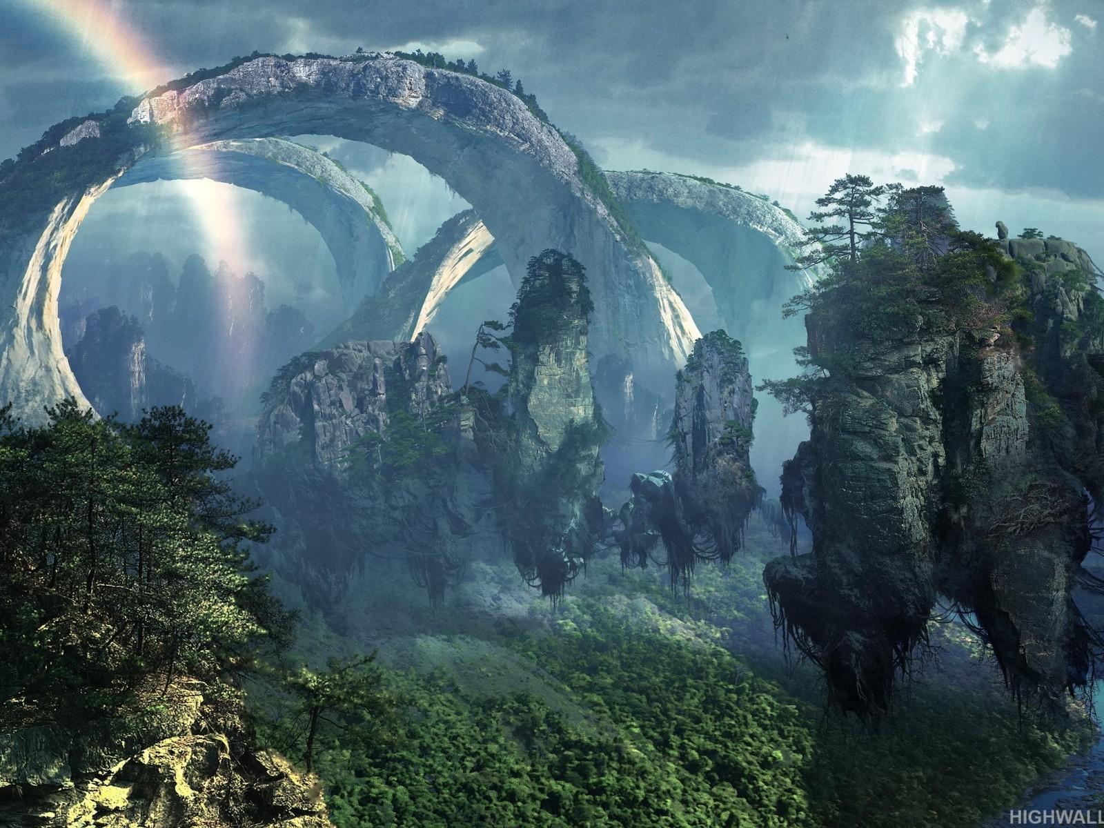 Fantasy alien planet jungle hd wallpaper - Plante jungle ...