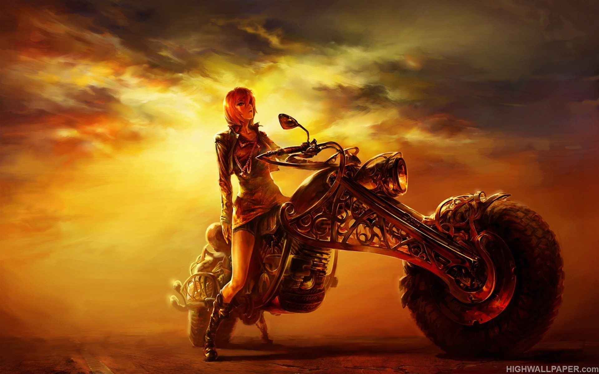 Fantasy Girl on Fantasy Bike