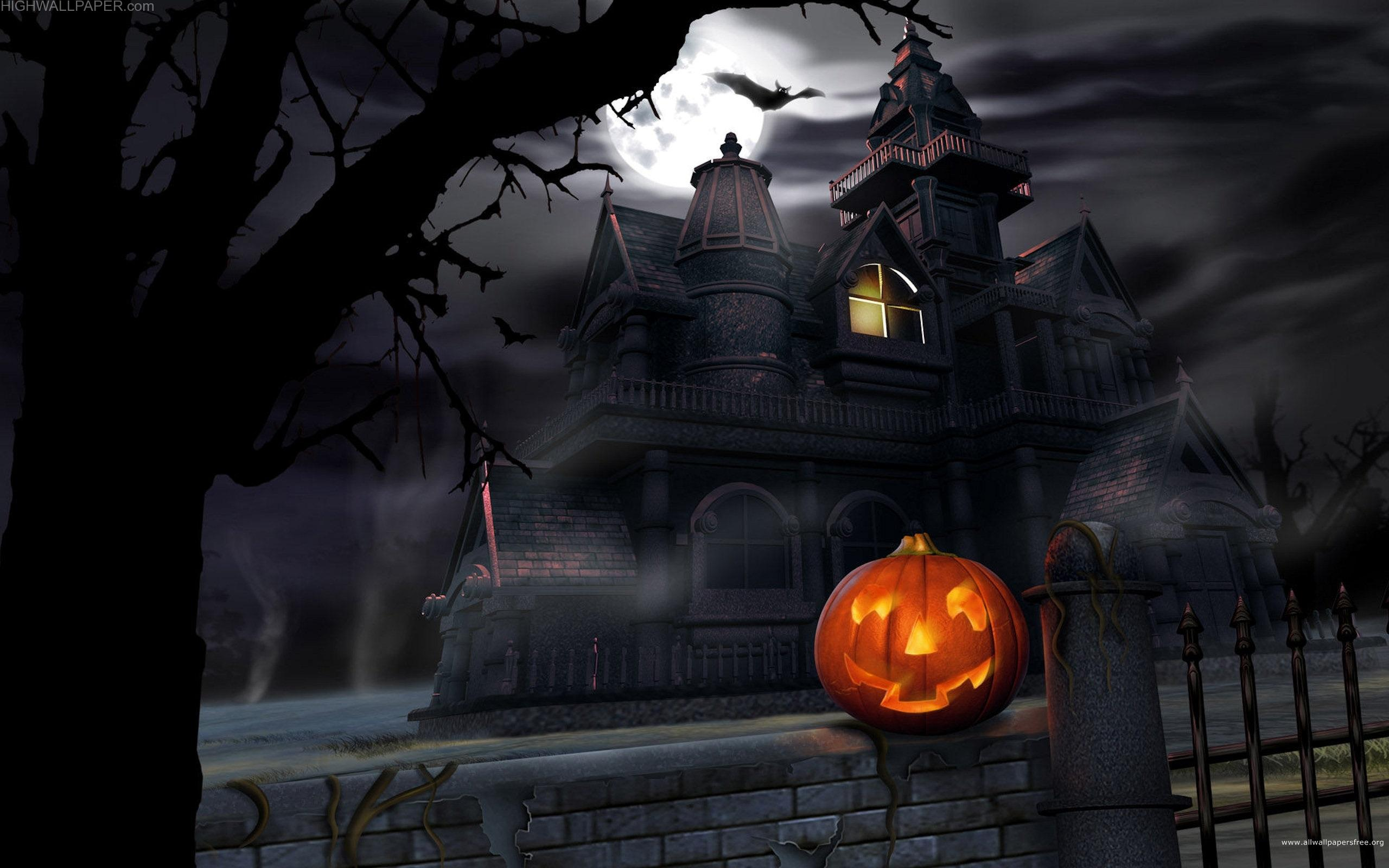 Helloween House and Pumpkin