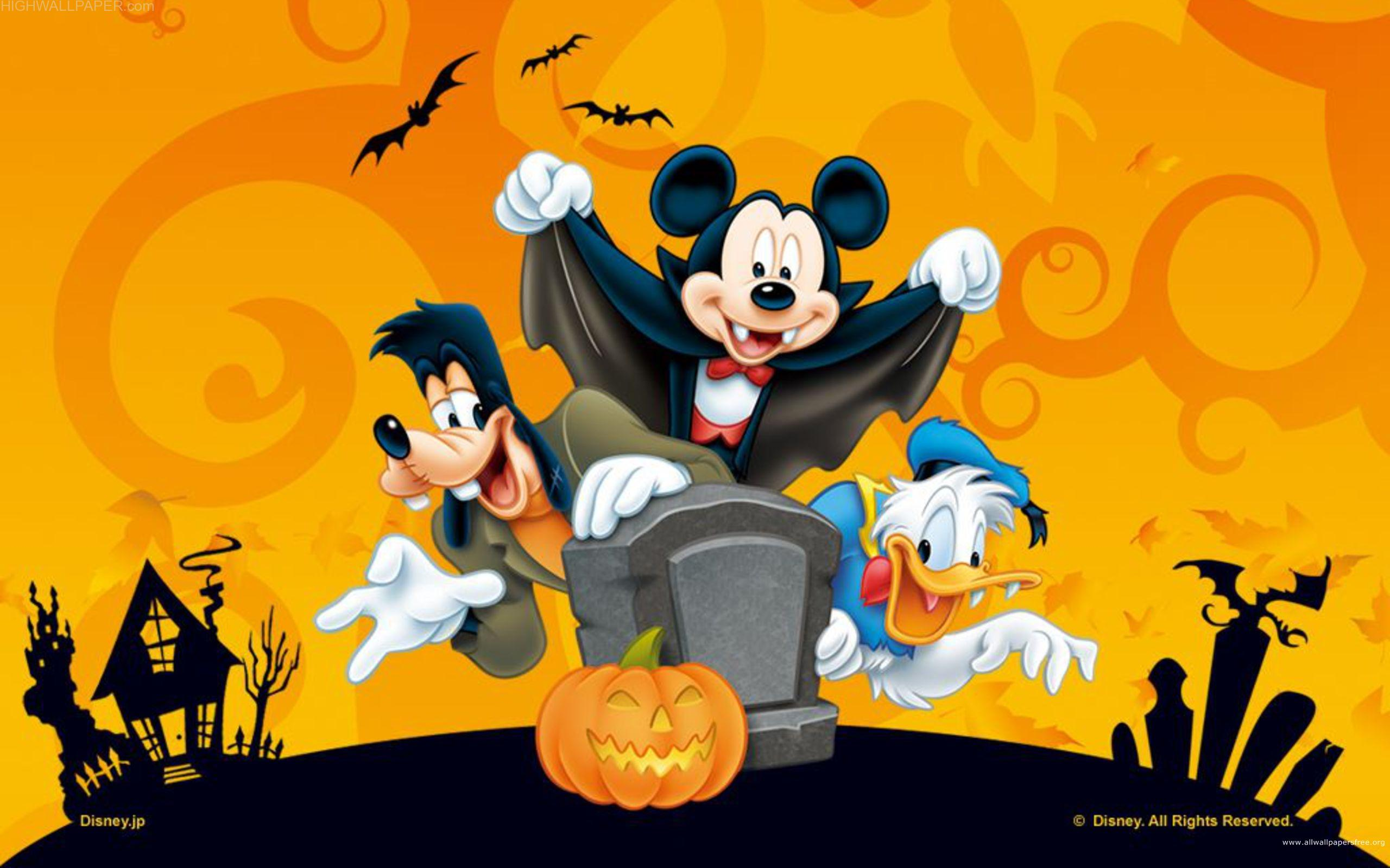 Micky Mouse Donald Goofy HAppy Helloween