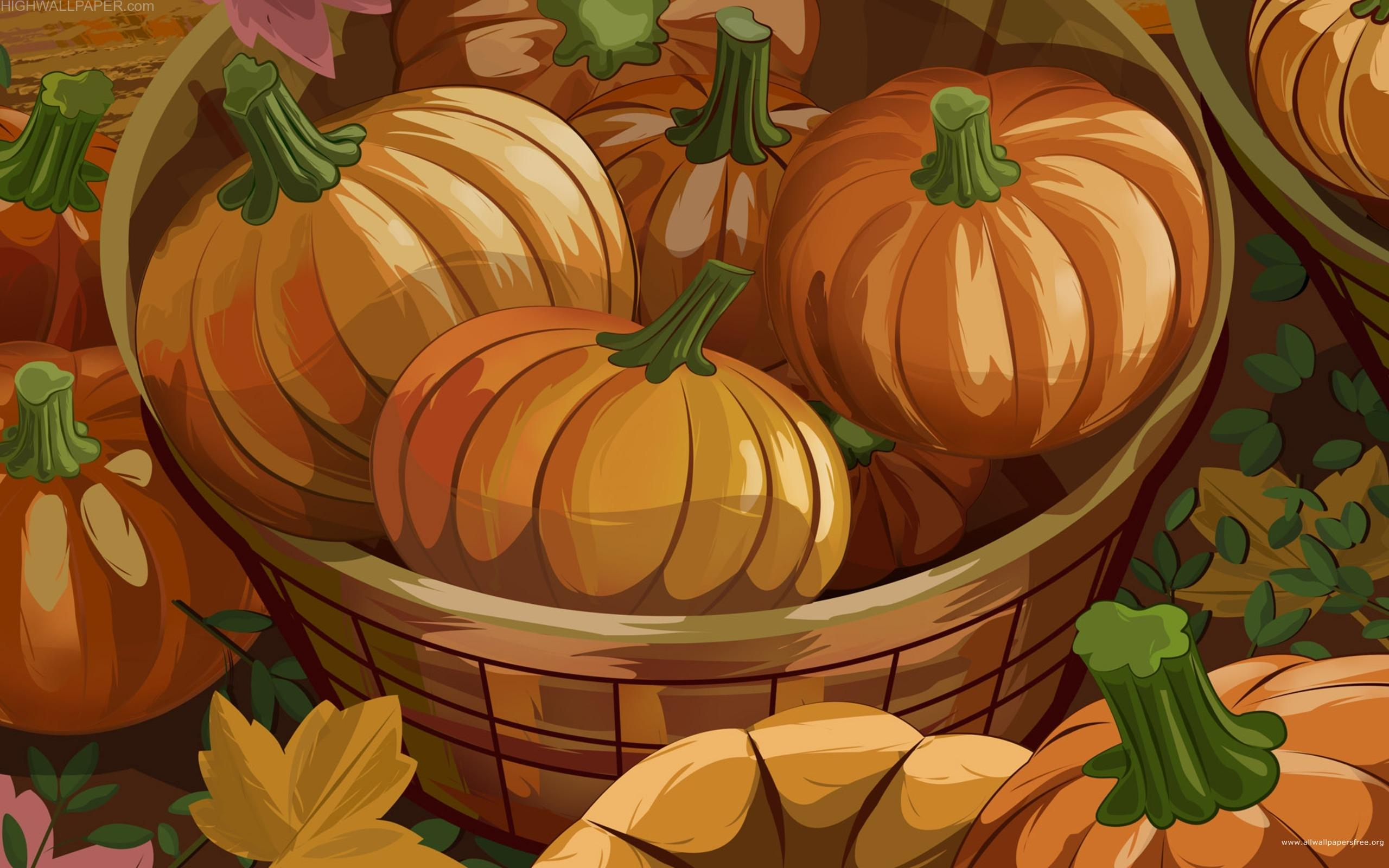 Pumpkin Full of Basket