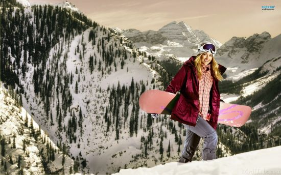 Girl With Snow board