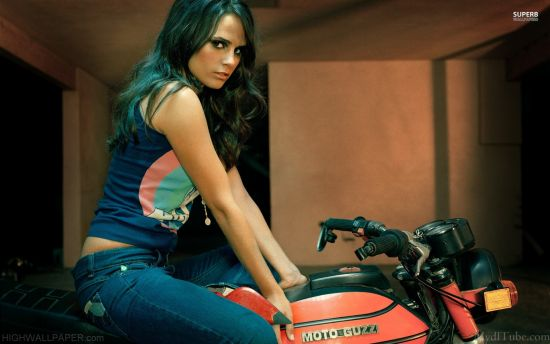 Girl in Jeans on Bike