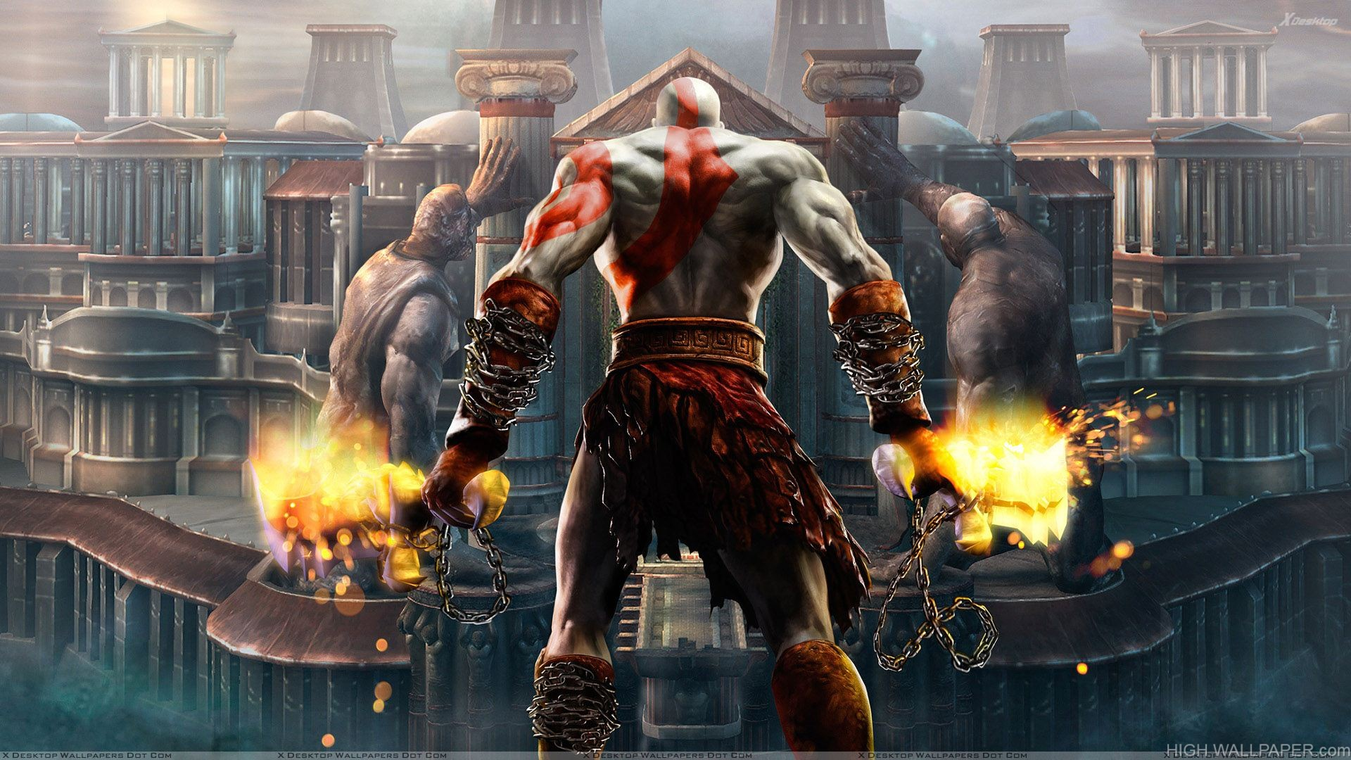 God Of War Iii   Back Pose