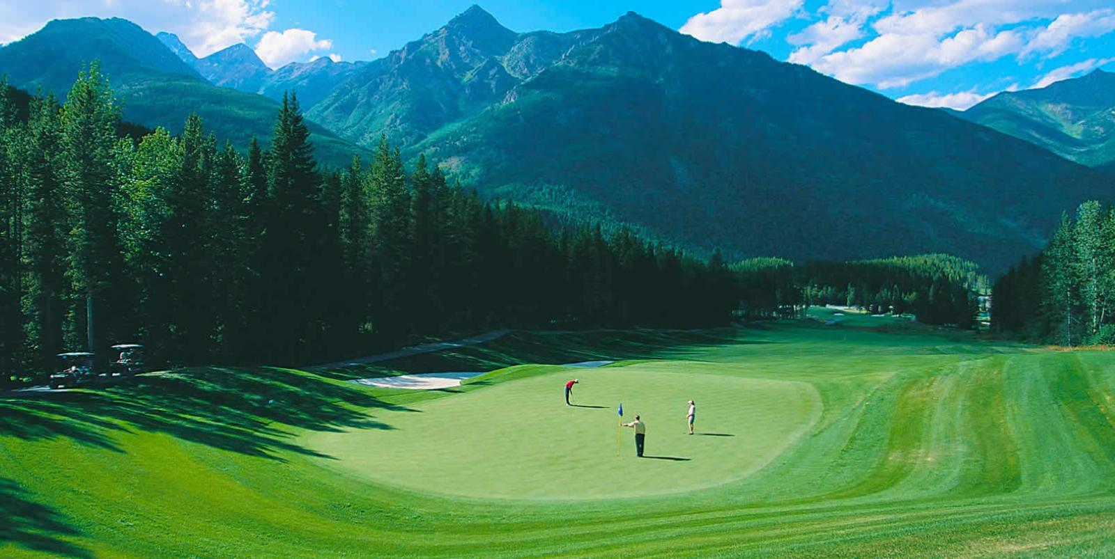 Golf Course and Mountains