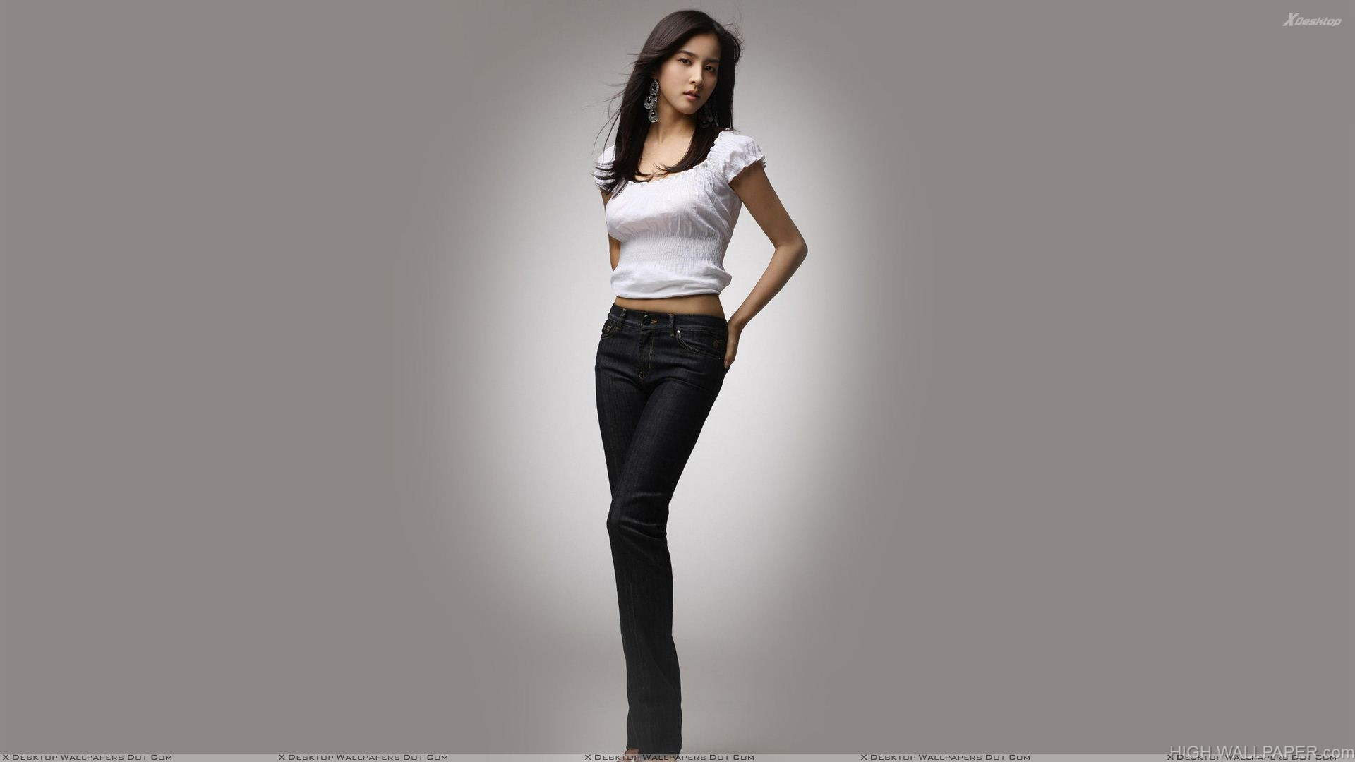 Han Hye jin In White Top N Black Jeans Modeling Pose Photoshoot