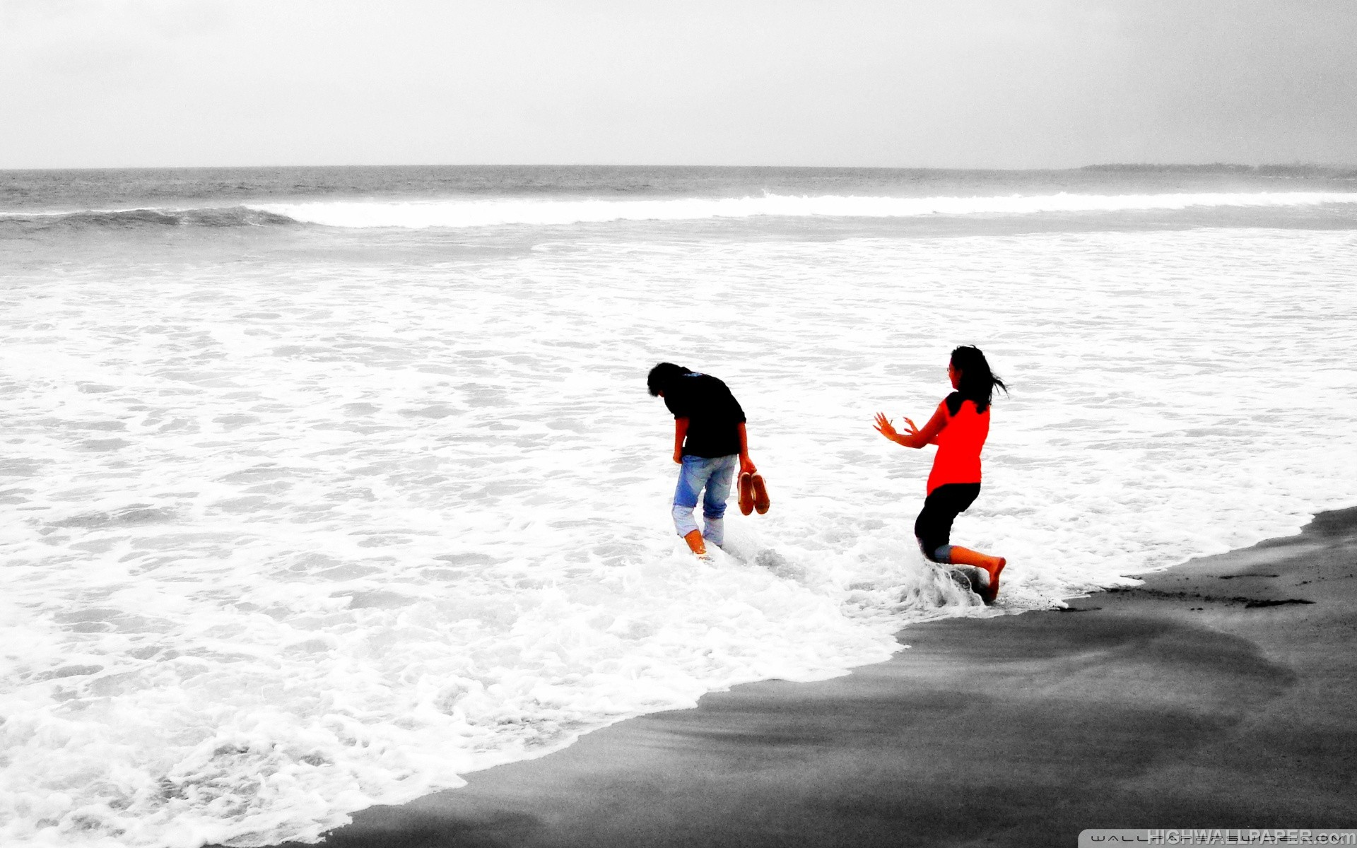 Happy Couple in Sea Shore