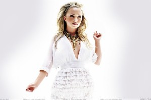 Hayden Panettiere In White Dress Thinking Something