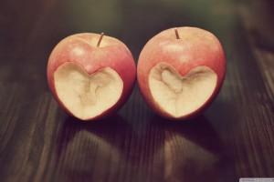 Heart in Apple