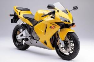 Yellow Honda CBR