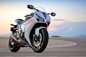 Honda CBR1000RR In White Front Pose