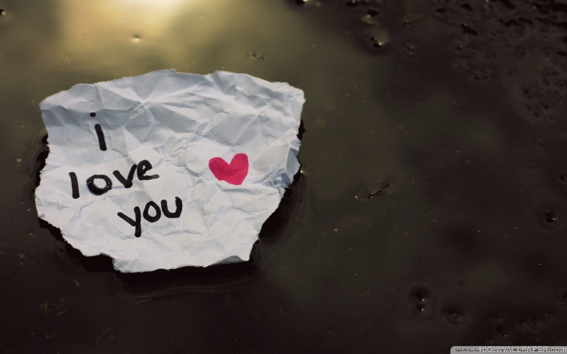 I Love You On White Paper