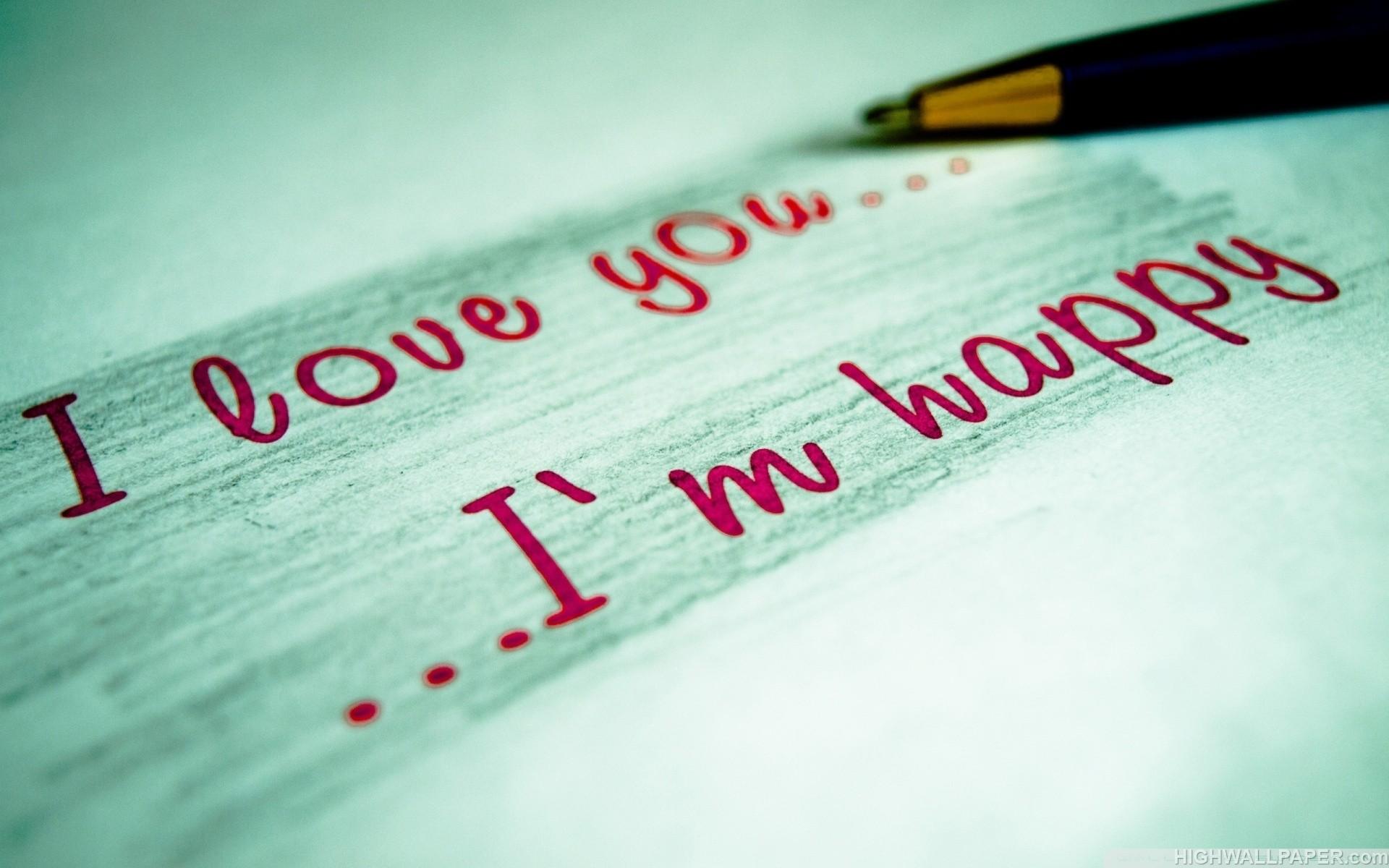 I  am Happy Written on Paper