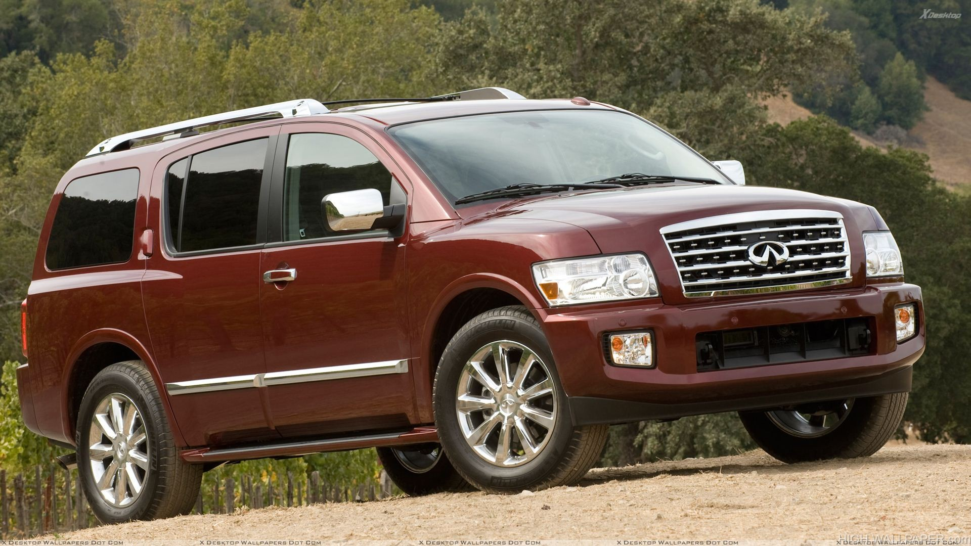 Infiniti QX56 2009 In Brown Front Pose