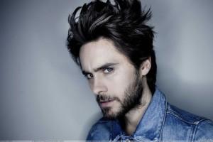 Jared Leto Side Pose In Blue Jacket Photoshoot