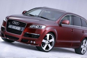 Je Design Audi Q7 In Brown Color Front Side
