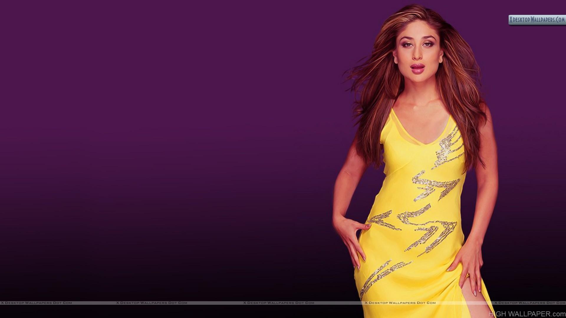 Kareena Kapoor In Sexy Yellow Dress