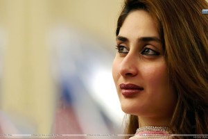 Kareena Kappor Brown Lips Face Closeup And Smiling