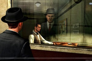 L.A. Noire Watching Outside Interogation Room