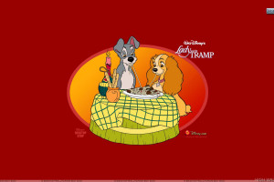 Lady And The Tramp Orange Background