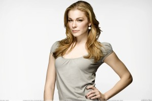 Leann Rimes Modeling Pose In Grey Top N White Background
