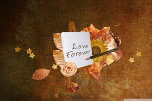 Love Forever on White Paper Flower