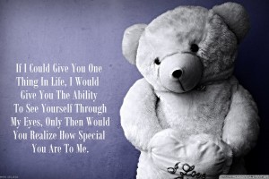 Love Teddy BEar Quote