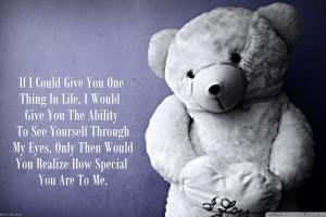 Love Teddy Bear Quote