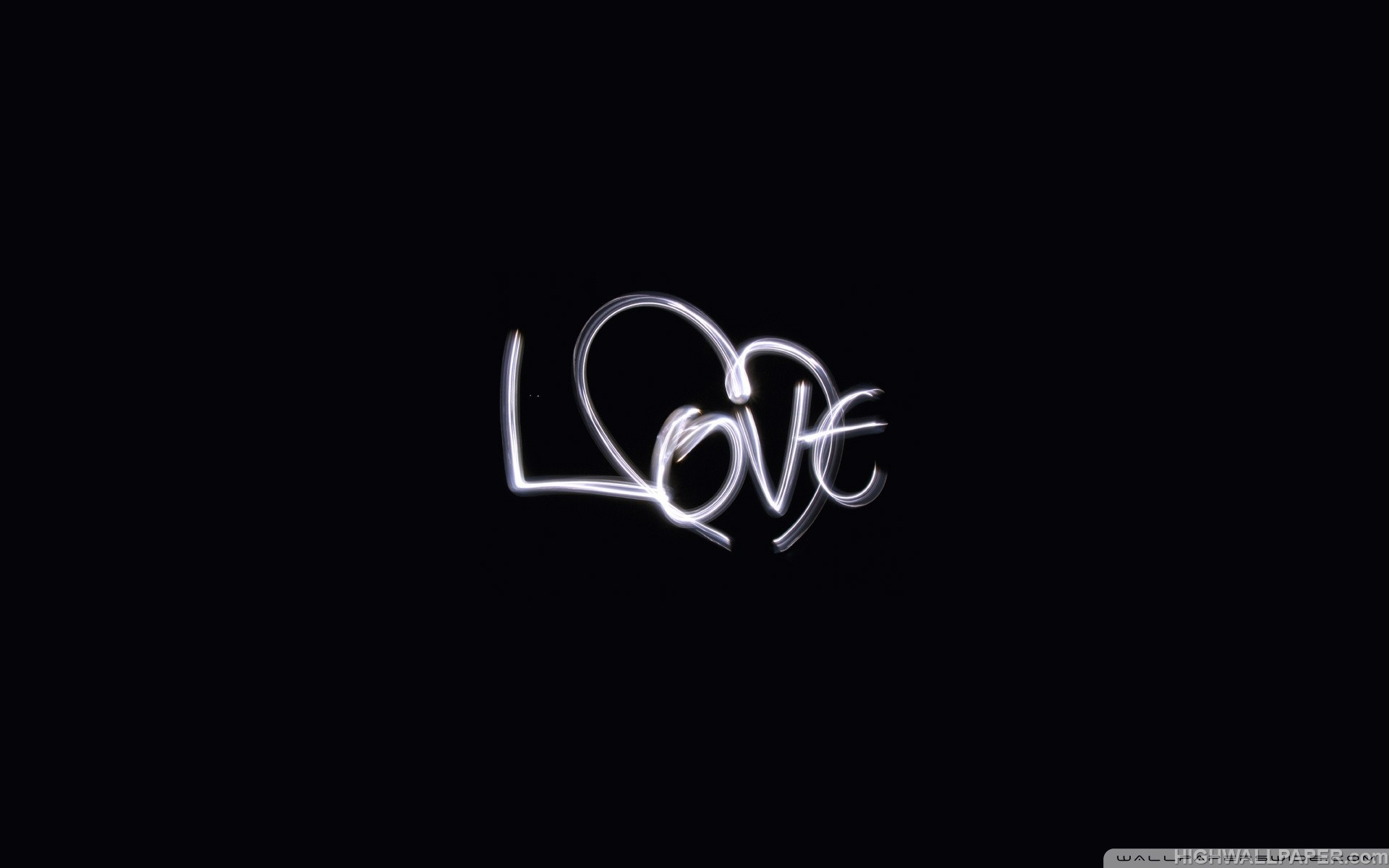 Love Wallpapers With Text : Love Text in Black Background HD Wallpaper