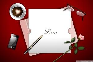 Love Written on Paper