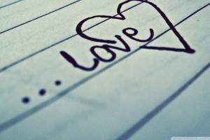 Love Written on White Paper
