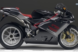 MV Agusta F4 Side Pose Black Color