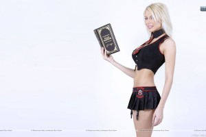 Marina Orlova Book In Hand Shot Black Skirt