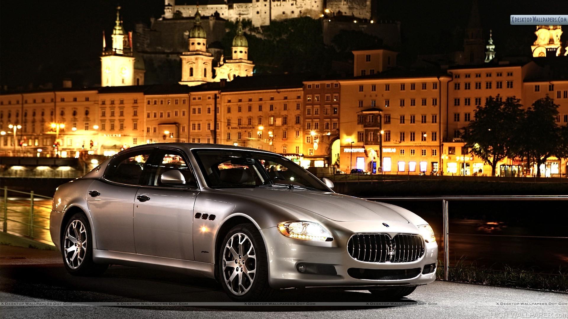 Maserati Quattroporte S Front Pose Near Castle