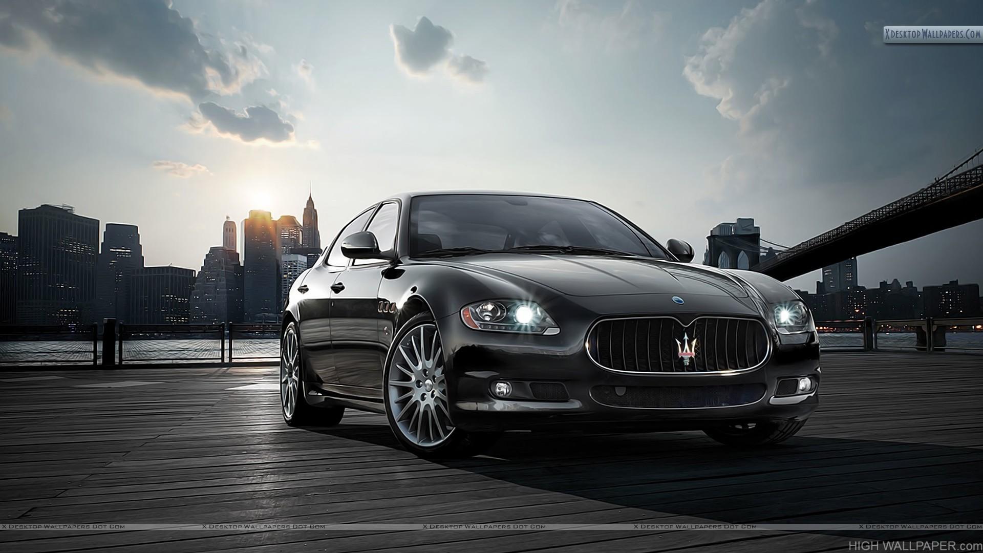 Maserati Quattroporte Sport Gt S Black Front View