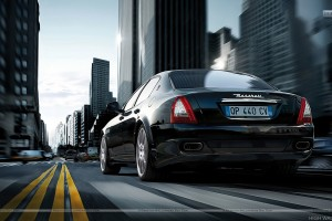 Maserati Quattroporte Sport Gt S Black On Street Back View1