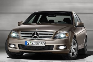 Mercedes Benz C Class Special Edition In Brown Front Pose
