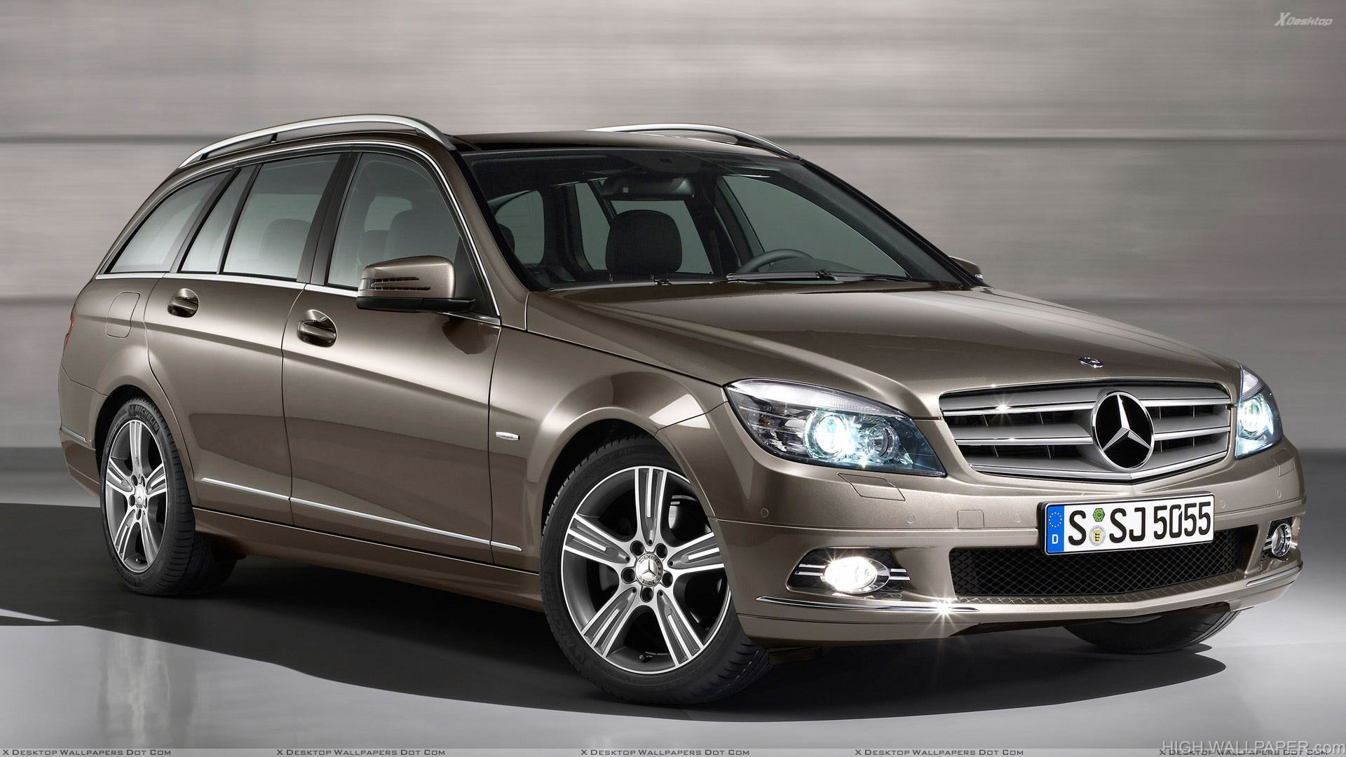 Mercedes Benz C Class Special Edition Side Front Pose In Brown