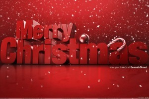 Merry Christmas And Red Background