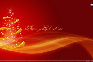 Merry Christmas With Stars Christmas Tree