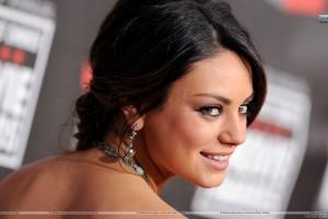 Mila Kunis Smiling Looking Back Side Face Closeup