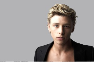 Mitch Hewer Looking At Camera And Golden Hairs