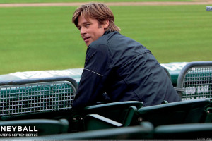 Moneyball Brad Pitt Sitting And Looking Back