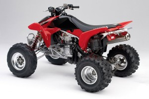 Red Honda Dirt Bike