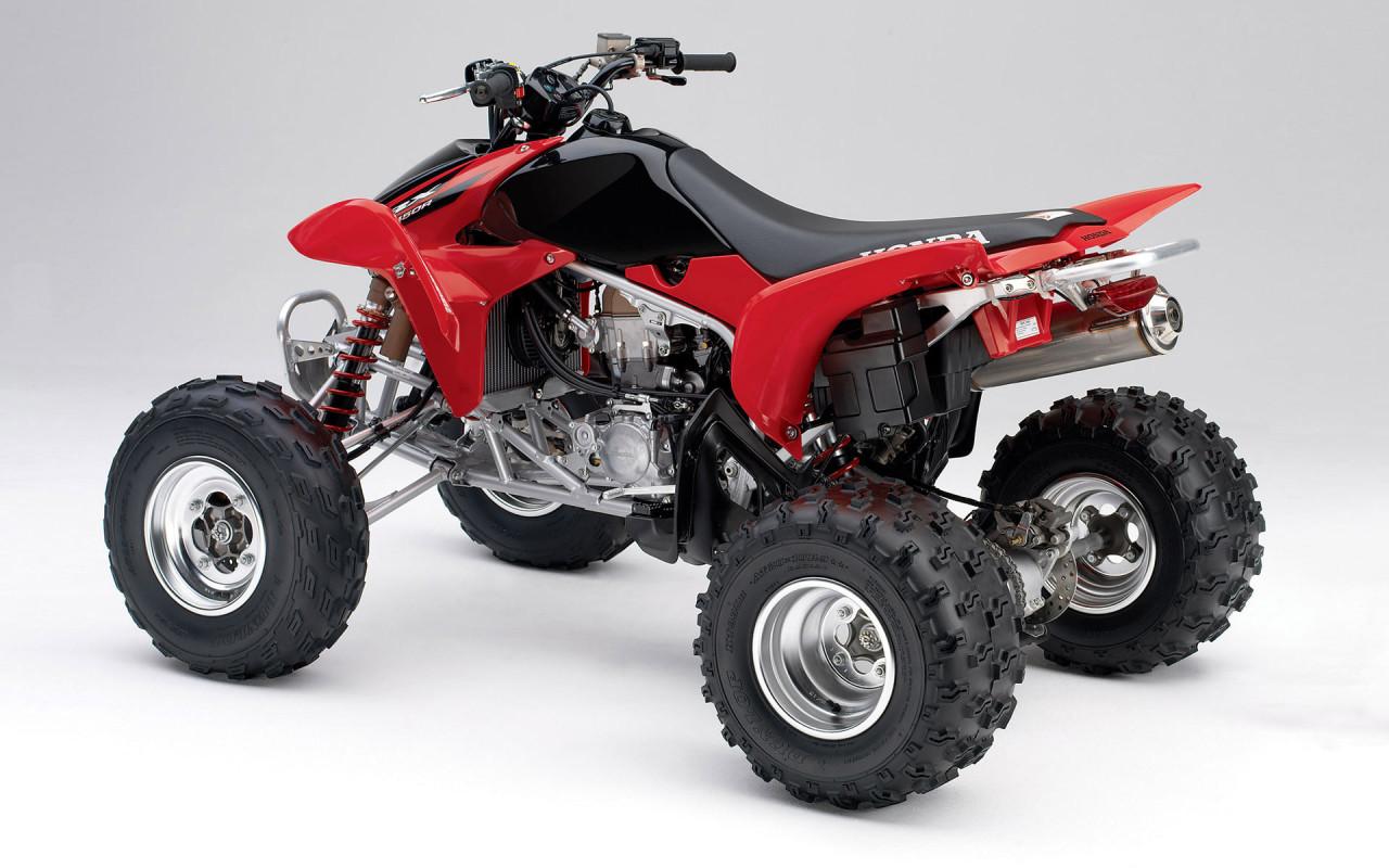 Red Honda Dirt Bike