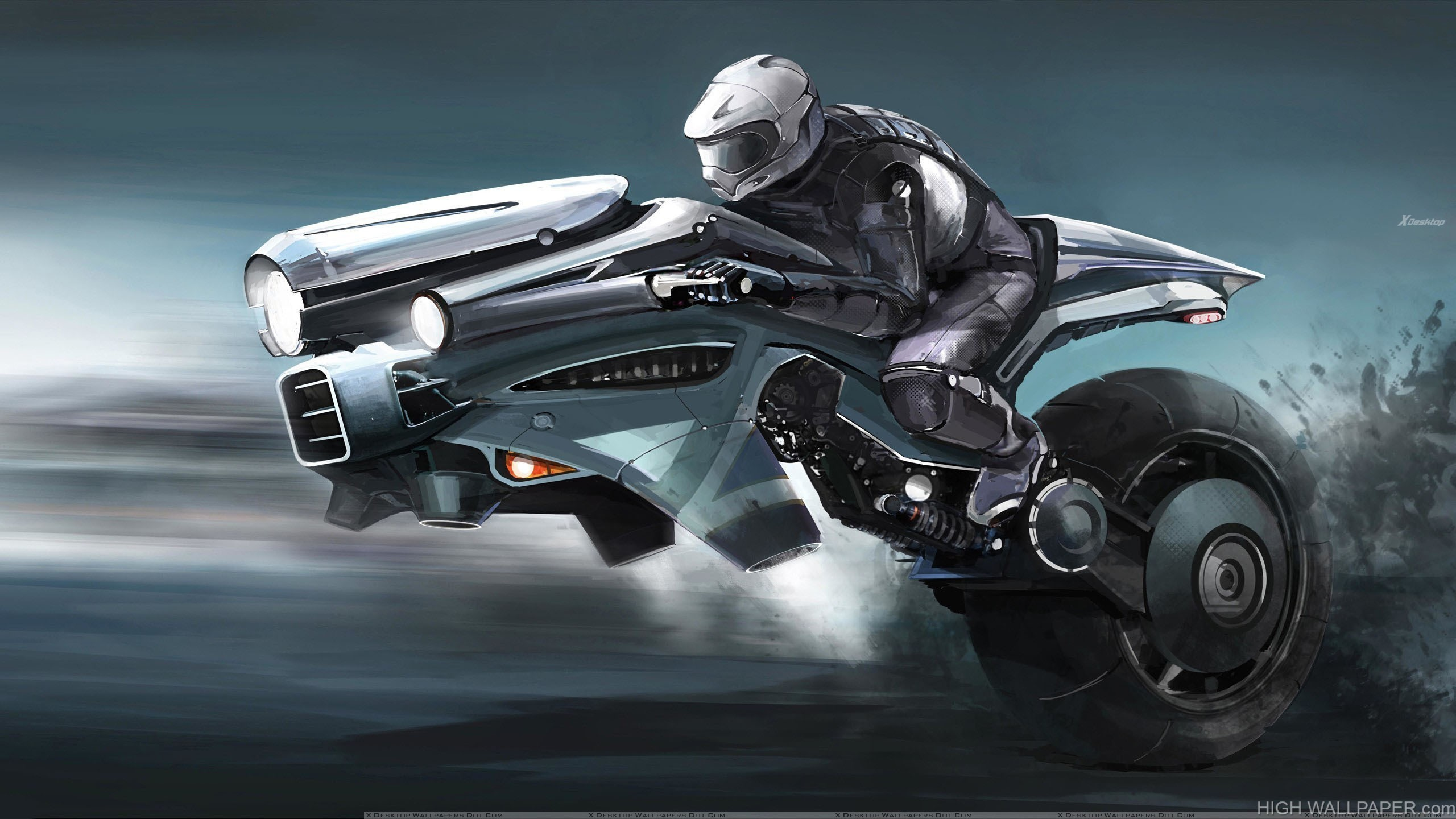 Motorcycle Of The Future Looking Cool