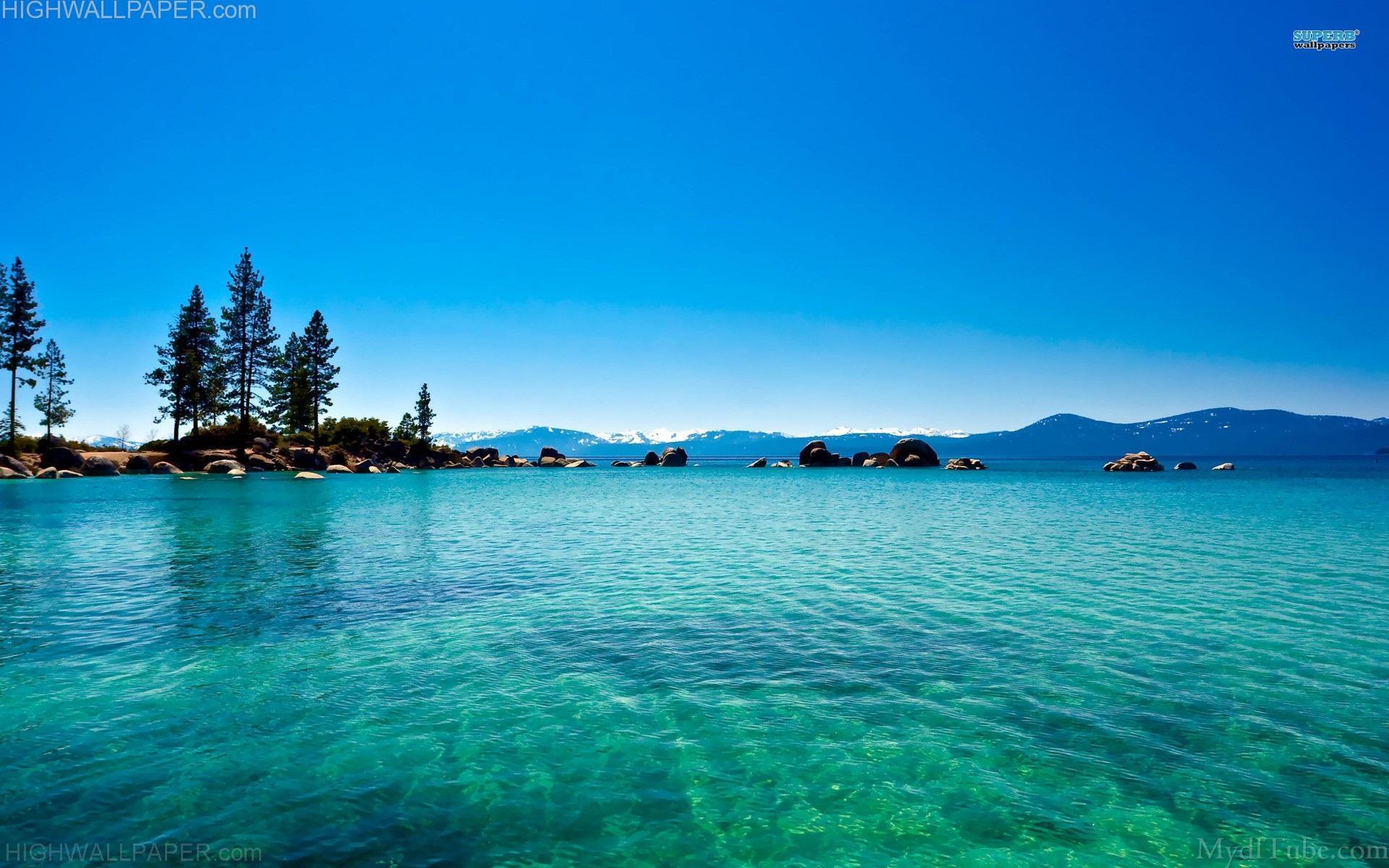 Dark Sky Over A Blue Sea HD desktop wallpaper : Widescreen : High ...