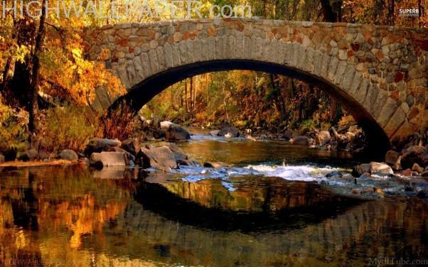 Stone bridge reflection -602×376