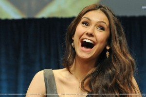 Nina Dobrev Laughing in Show
